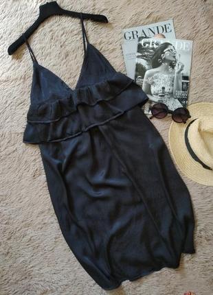 Эффектное легкое платье с рюшами воланами/сарафан