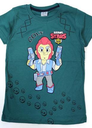 Детская футболка для мальчика brawl stars 8-12 лет 4300-6