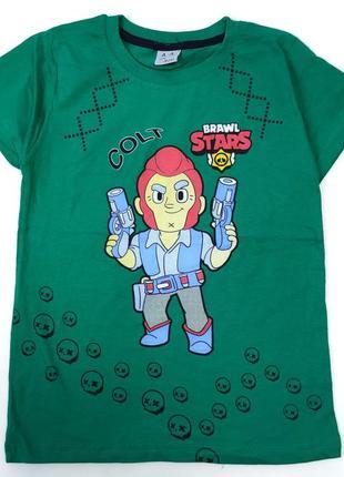 Детская футболка для мальчика brawl stars 8-12 лет 4300-7