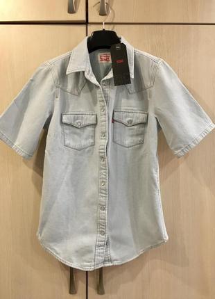 Джинсовая рубашка levi's коттон оригинал