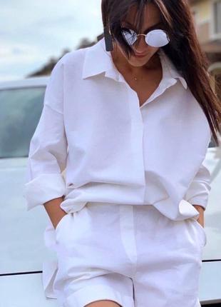 Костюм (рубашка оверсайз+шорты)