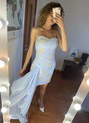 Шикарное платье на шнуровке. на свадьбу, день рождения. сексуальное коктейльное платье.