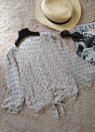 Винтажная блузка на завязке/блуза/кофточка/рубашка