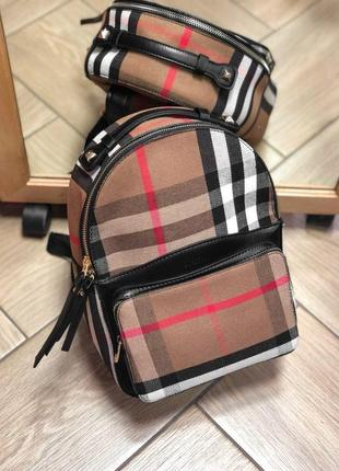 Шикарный женский рюкзак burberry 😍