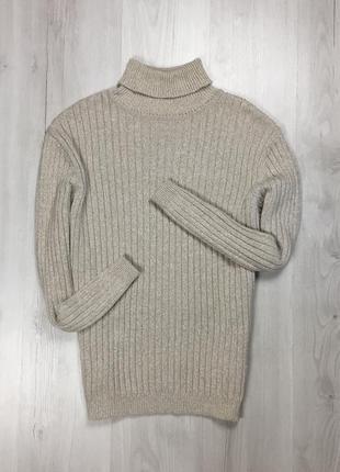 F7 гольф свитер bhs кофта свитер бежевый мужской с горлом теплый светлый