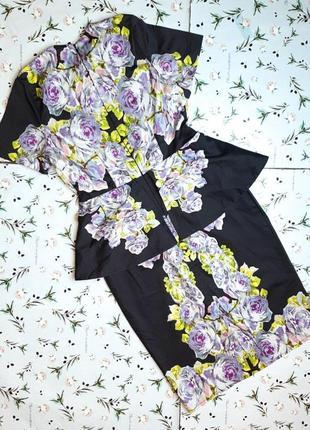 🌿1+1=3 стильное приталенное платье футляр миди asos цветочный принт, размер 44 - 46