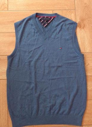 Жилетка мужская хлопковая кашемировая tommy hilfiger vest жилет чоловічий бавовняний🇨🇳