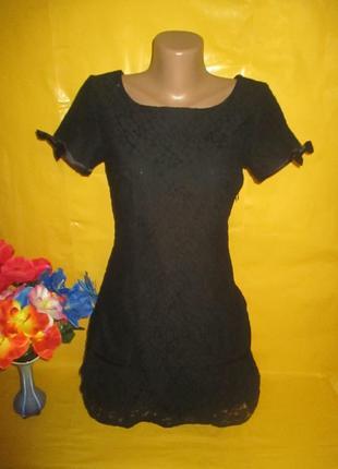 Ажурное женское платье monsoon (монсун) рр 8 грудь 40-43 см !!!!!!!
