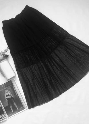 Юбка плиссе. юбка сетка