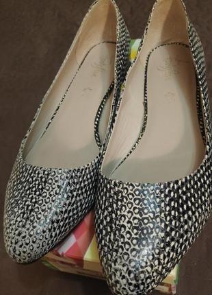 Кожаные балетки footglove 41-42 р