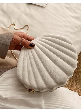 Бархатная сумка жемчужина