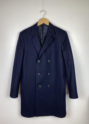 Двубортное шерстяное пальто cos. кос