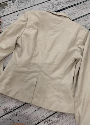 Бежевый пиджак жакет h&m на одну пуговицу8 фото