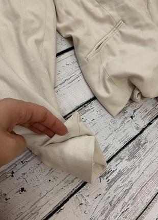 Бежевый пиджак жакет h&m на одну пуговицу4 фото