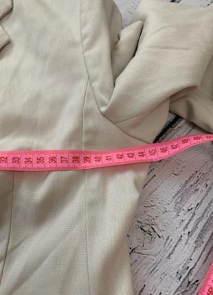 Бежевый пиджак жакет h&m на одну пуговицу9 фото