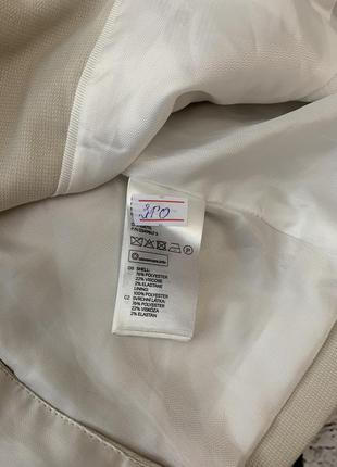 Бежевый пиджак жакет h&m на одну пуговицу7 фото