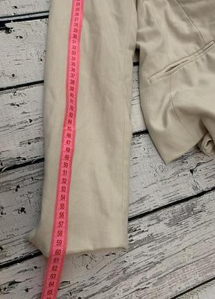 Бежевый пиджак жакет h&m на одну пуговицу5 фото