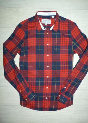Красивая рубашка в клетку jack wills размер uk 12 us 8