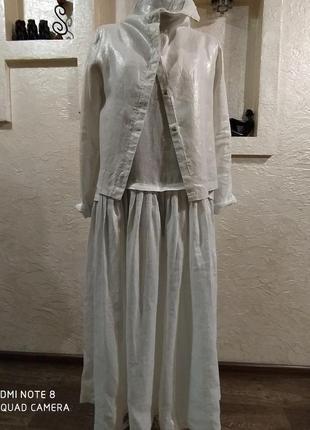 Стильный костюм лен koko marina