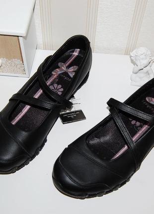 Туфли кожа спортивные балетки 40-41 р 26.5 см