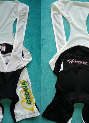 Thoemus велокомбинезон с памперсом на бретелях велотрико велошорты италия