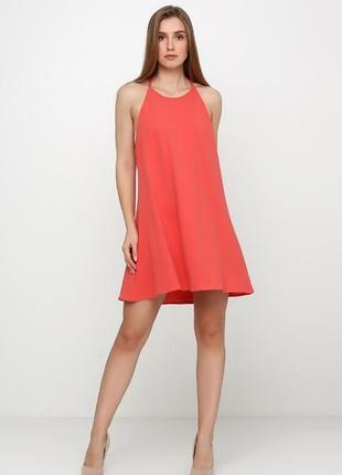 Коралловое платье от mango