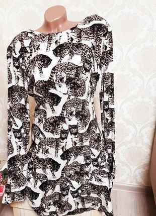 Стильное легкое платье из вискозы,принт кошки