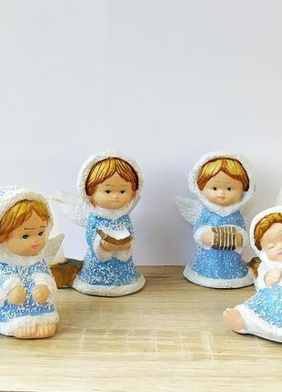 Одним лотом подсвечник ангел дети свечи крылья