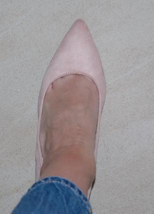Туфли лодочки розовые пудровые 39 р,25 см