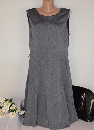Брендовое серое нарядное миди платье next большой размер