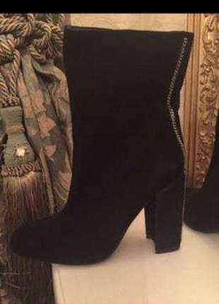 Ботинки medea из натурального замша