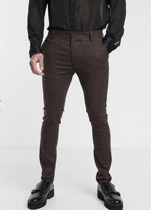 Стильные брюки штаны чиносы topman. пролет