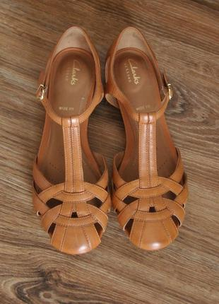 Кожаные босоножки сандалии  clarks / шкіряні босоніжки