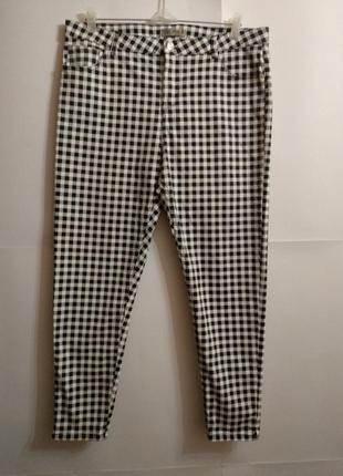 Новые стрейчевые джинсы скинни в клетку 18/52-54 размера