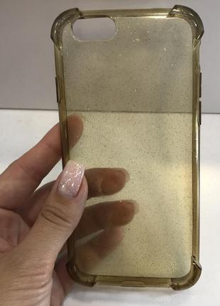 Силиконовый чехол на айфон iphone 6/6s case for iphone с блестками