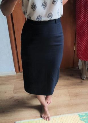 Классическая юбка миди новая сток