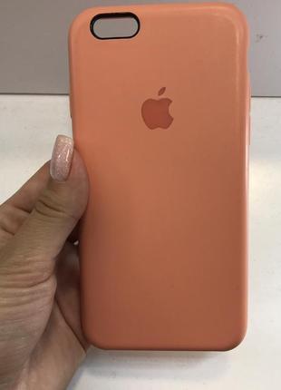 Силиконовый персиковый розовый чехол на айфон iphone 6/6s case for iphone