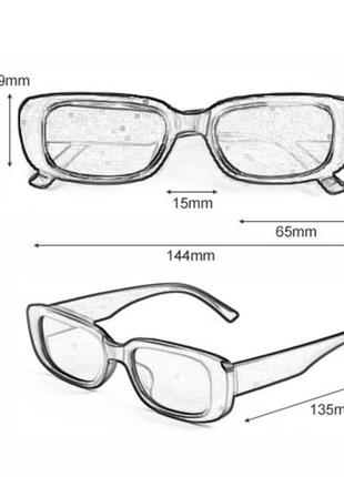 Очки окуляри винтажные в стиле 90-х трендовые черные солнцезащитные новые10 фото