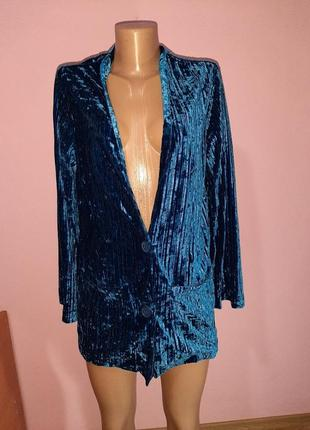 Брендовый удлинённый стильный пиджак