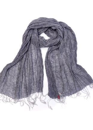 Льняной модный шарф levi's  /2245/
