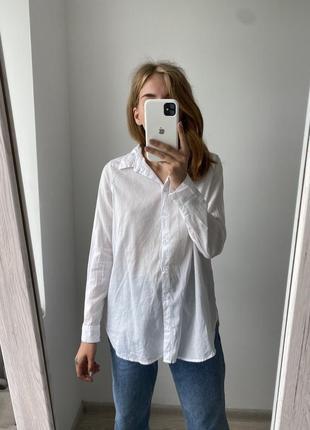 Базовая белая рубашка hm