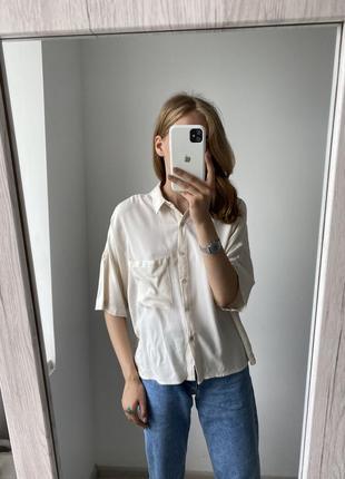 Рубашка с коротким рукавом bershka