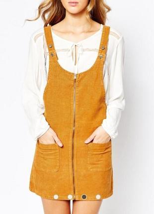 Вельветовый джинсовый сарафан комбинезон платье