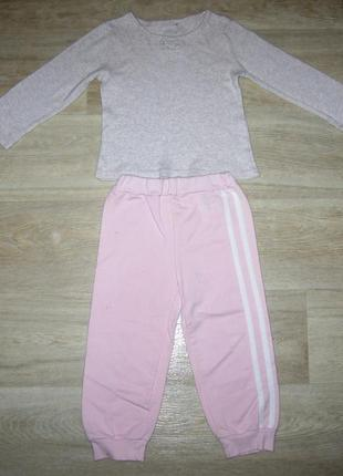 Спортивный костюм комплект брюки с начесом размер 92-98