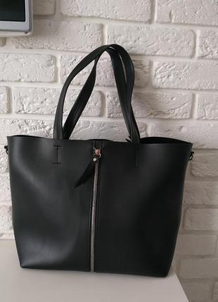 Удобная сумка для документов черная