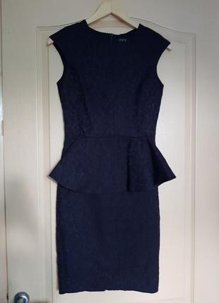 Топовое классическое брендовое базовое платье zara с баской