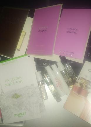Chanel, givenchy, hermes набор фирменных пробников.