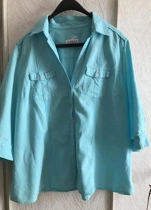 Отличная льняная рубашка/блуза canda 🌸