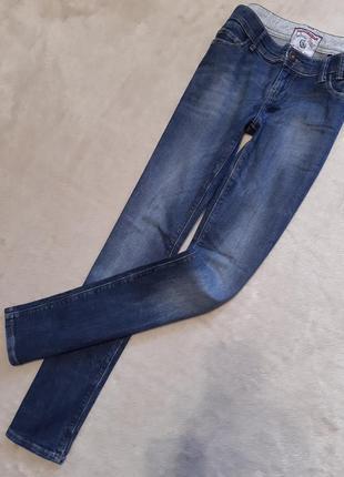 Синие джинсы средней посадки прямые размер 8 next