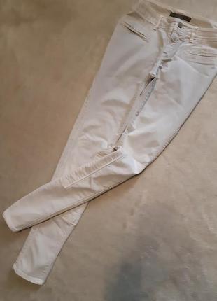 Брюки штаны зауженные котоновые песочного цвета размер 10 zara